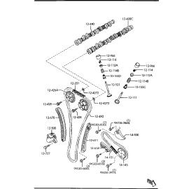 Планка натяжителя цепи ГРМ Mazda CX-7 (2006-2012)