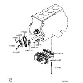 Успокоитель цепи балансировочного вала Mitsubishi Outlander 3 (2012-н.в.)
