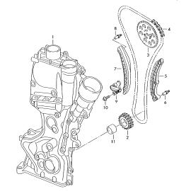 Направляющая цепи ГРМ правая Skoda Fabia 2 (2010-2015)