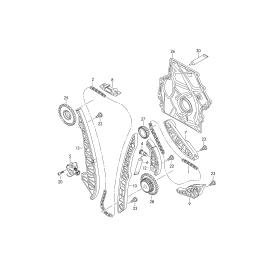 Направляющая цепи ГРМ правая Skoda Superb 2 (2008-2015)