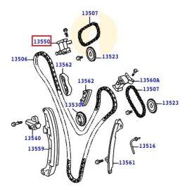 Натяжитель цепи ГРМ правый Toyota Prado 120 (2002-2009)