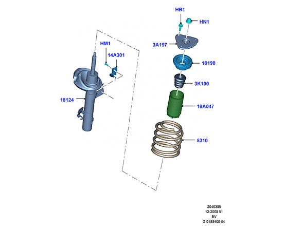 Отбойник амортизатора переднего Ford Kuga 1 (2008-2013)
