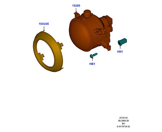Фара противотуманная (ПТФ) правая Ford Kuga 1 (2008-2013)