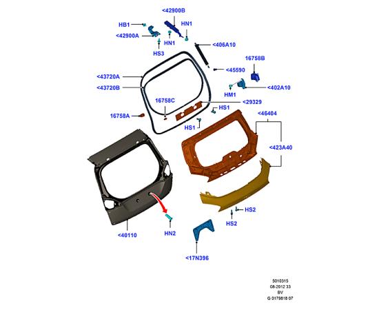 Крышка багажника Ford Kuga 1 (2008-2013)