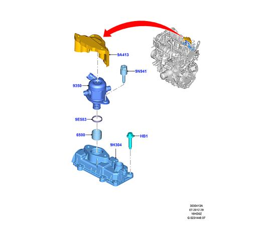 Насос топливный в сборе Ford Kuga 2 (2013-н.в.)