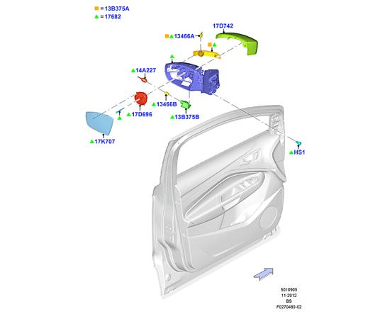 Зеркало левое Ford Kuga 2 (2013-н.в.)