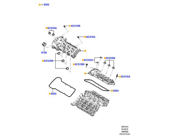 Прокладка крышки клапанов левая Ford Explorer 5 (2011-н.в.)