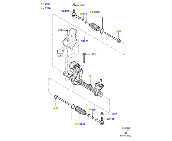 Пыльник рейки рулевой Ford Explorer 5 (2011-н.в.)