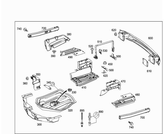 Рамка ПТФ правая Mercedes C-klass W204 (2007-2015)