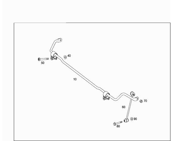 Рычаг схождения задний правый Mercedes C-klass W204 (2007-2015)