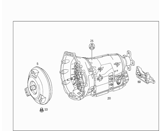 Гидротрансформатор (AT) Mercedes C-klass W204 (2007-2015)