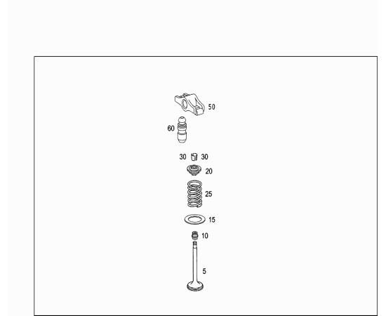 Клапан выпускной Mercedes C-klass W204 (2007-2015)