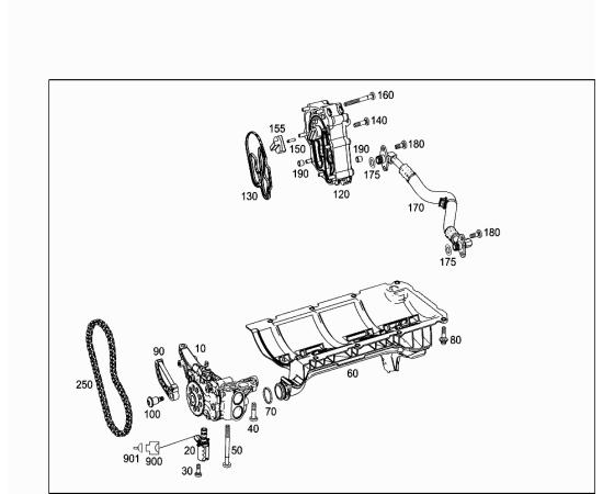 Планка натяжителя цепи масляного насоса Mercedes C-klass W204 (2007-2015)