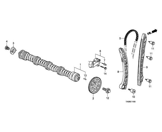Планка натяжителя цепи ГРМ Honda Civic 4D (2006-2012)