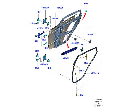 Дверь задняя правая Ford Fiesta 6 (2008-2012)
