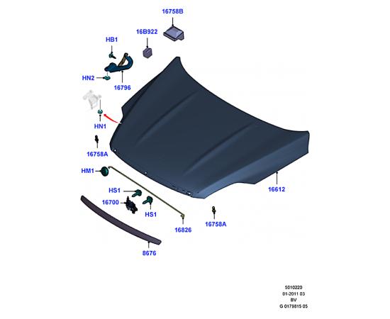 Капот Ford Kuga 1 (2008-2013)