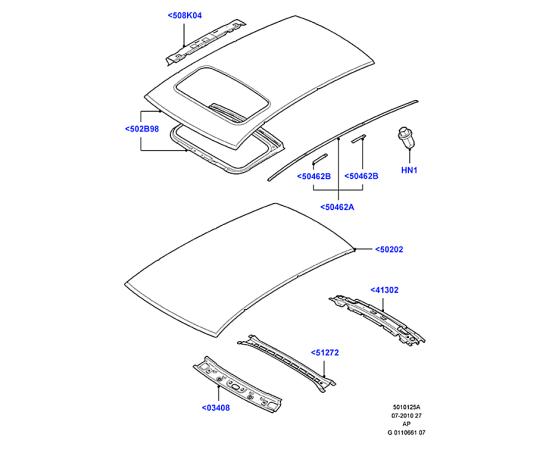 Крыша Ford Kuga 1 (2008-2013)