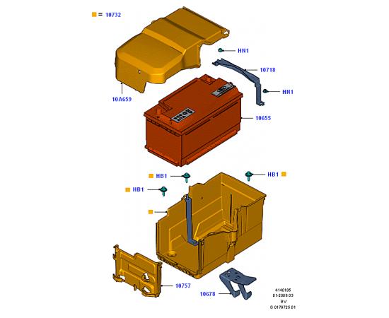 Аккумулятор Ford Kuga 1 (2008-2013)