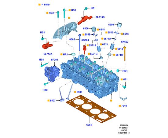 Клапан выпускной Ford Kuga 2 (2013-н.в.)