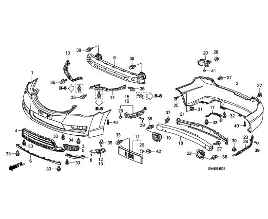 заглушка ПТФ правая Honda Civic 4D (2009-2012)