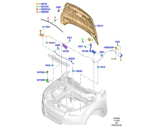 Капот Ford Kuga 2 (2013-н.в.)