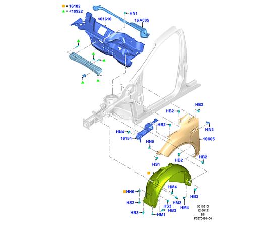 Крыло переднее правое Ford Kuga 2 (2013-н.в.)