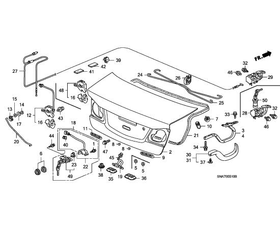 Крышка багажника Honda Civic 4D (2006-2012)