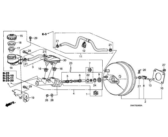 Цилиндр тормозной главный Honda Civic 4D (2006-2012)