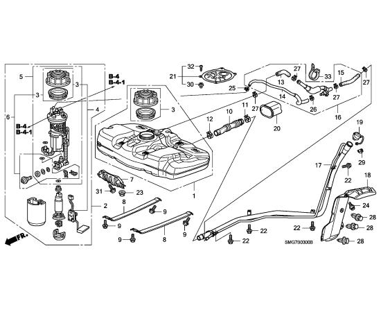 Насос топливный в сборе Honda Civic 5D (2006-2012)