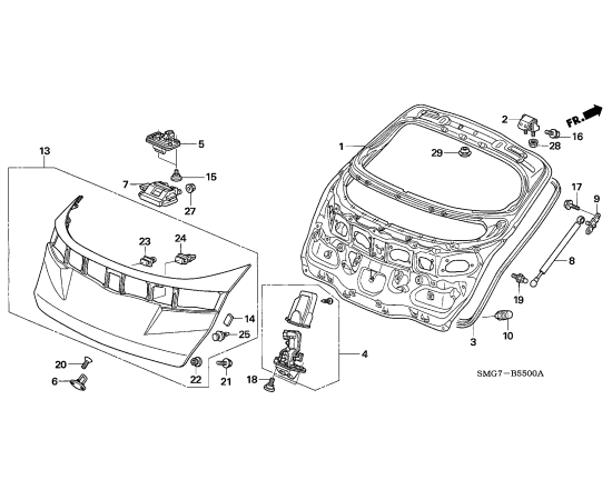 Амортизатор крышки багажника Honda Civic 5D (2006-2012)