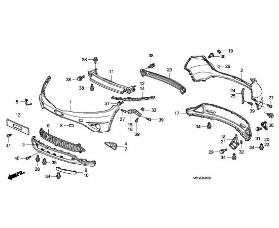 заглушка ПТФ правая Honda Civic 5D (2009-2012)