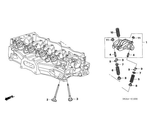 Клапан впускной Honda Civic 4D (2006-2012)