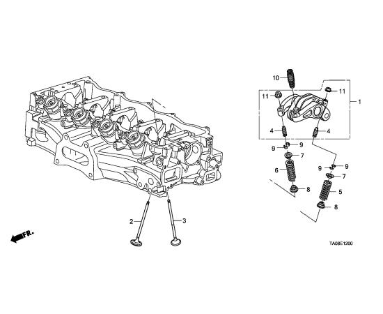 Клапан выпускной Honda Civic 4D (2006-2012)