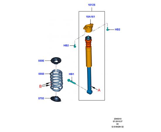 Пружина задняя Ford Fiesta 6 (2008-2012)