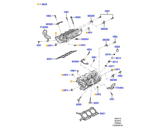 Прокладка ГБЦ правая Ford Explorer 5 (2011-н.в.)