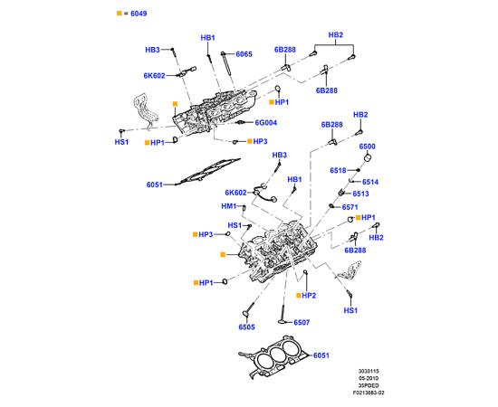 Клапан выпускной Ford Explorer 5 (2011-н.в.)