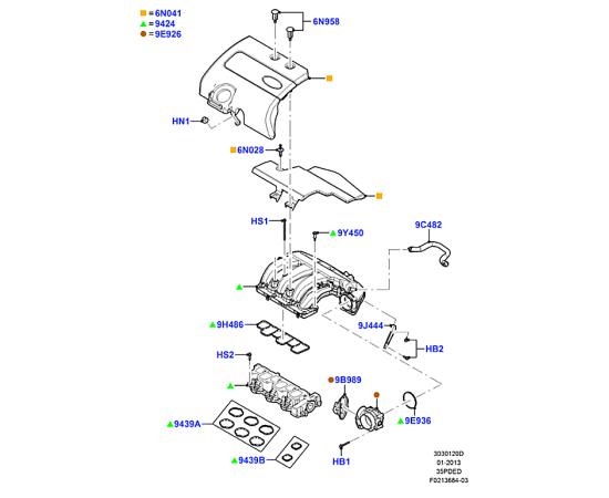 Прокладка впускного коллектора Ford Explorer 5 (2011-н.в.)