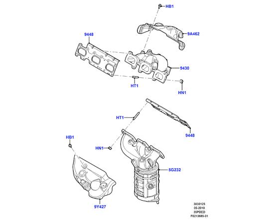 Прокладка выпускного коллектора Ford Explorer 5 (2011-н.в.)