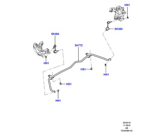 Стабилизатор задний Ford Explorer 5 (2011-н.в.)