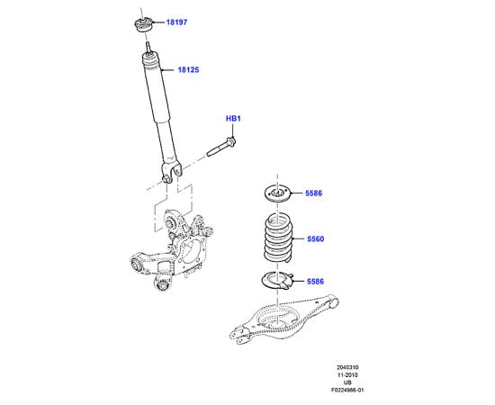 Пружина задняя Ford Explorer 5 (2011-н.в.)