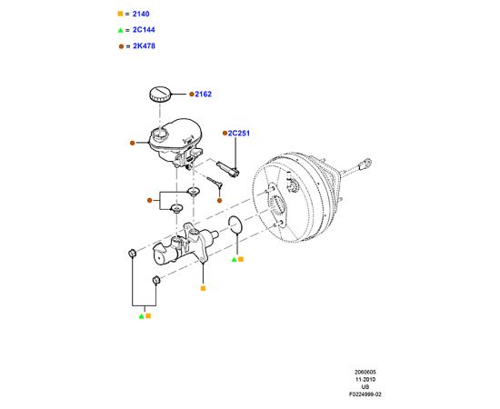 Цилиндр тормозной главный Ford Explorer 5 (2011-н.в.)
