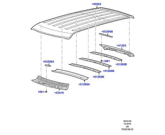Крыша Ford Explorer 5 (2011-н.в.)