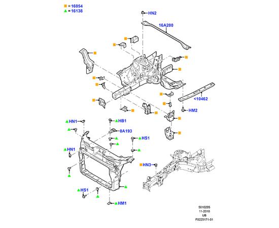 Панель передняя Ford Explorer 5 (2011-н.в.)