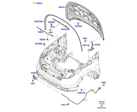 Капот Ford Explorer 5 (2011-н.в.)