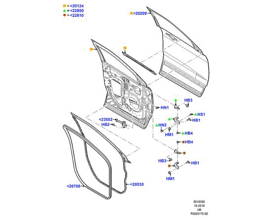 Дверь передняя правая Ford Explorer 5 (2011-н.в.)