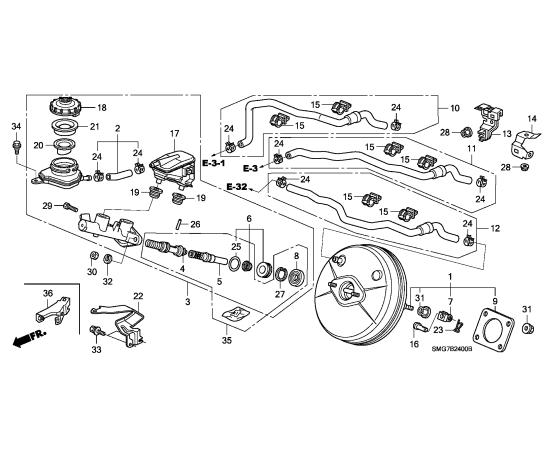 Цилиндр тормозной главный Honda Civic 5D (2006-2012)
