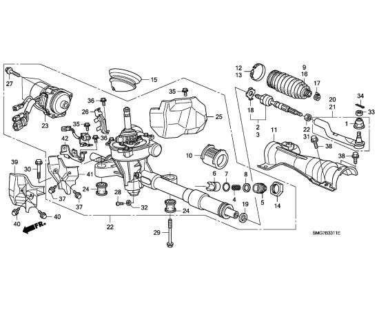 Рулевая тяга правая Honda Civic 5D (2006-2012)