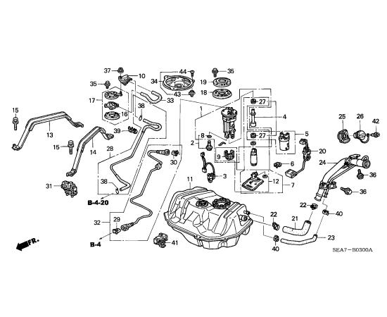 Насос топливный в сборе Honda Accord 7 (2002-2007)