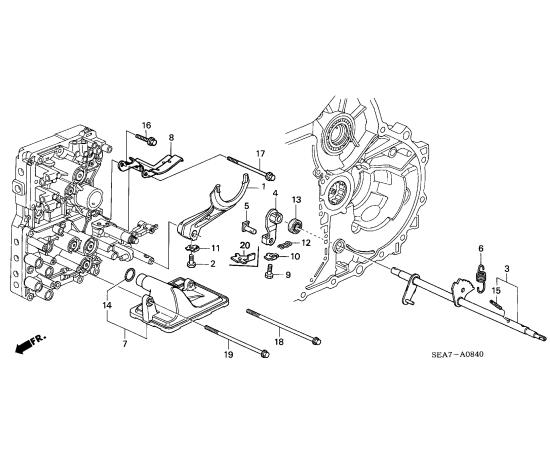 Фильтр АКПП Honda Accord 7 (2002-2007)
