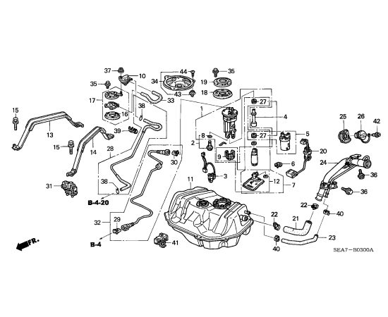 Фильтр топливный Honda Accord 7 (2002-2007)